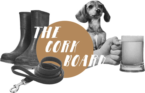 The Cork Board header